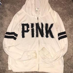 VS Pink Hoodie Zipper Jacket